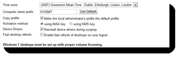 Domain preparation