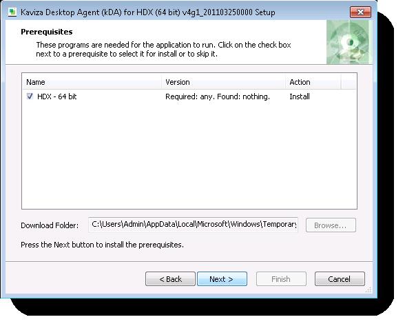 VDA install step 2