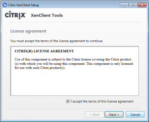XenClient - installing tools step 1
