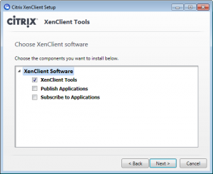 XenClient - installing tools step 2