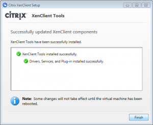 XenClient - installing tools step 5