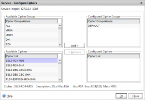 Default Netscaler Ciphers