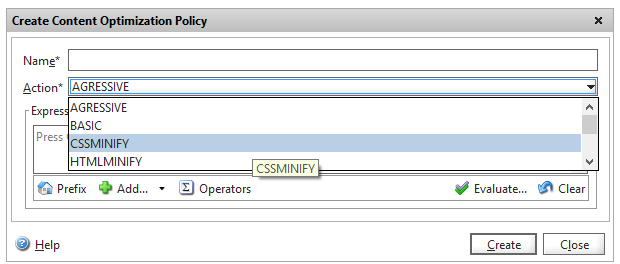 Netscaler content optimisation window